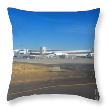 Spokane. Wa Airport  Day 11 Throw Pillow by Cindy Murphy - NightVisions