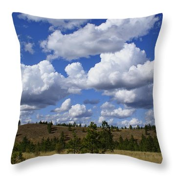 Spokane Cloudscape Throw Pillow