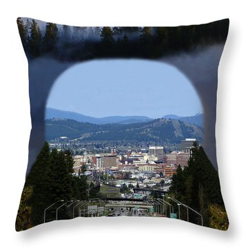 Throw Pillow featuring the photograph Spokane Near Perfect Nature by Ben Upham III