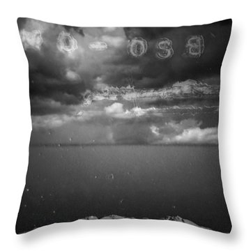 Throw Pillow featuring the photograph Spoken by Mark Ross