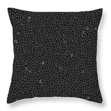 Black Sponge Glass Implosion Throw Pillow