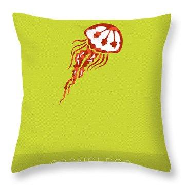 spongebob squarepants throw pillows fine art america
