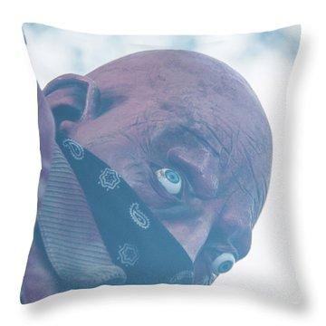 Spooky Bandit Throw Pillow