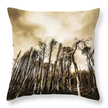 Spooky Dark Woods Throw Pillow