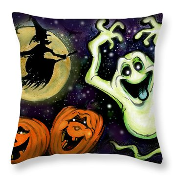 Spooky Throw Pillow by Kevin Middleton