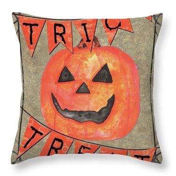 Spooky Pumpkin 1 Throw Pillow