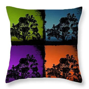 Spooky Tree- Collage 1 Throw Pillow by KayeCee Spain