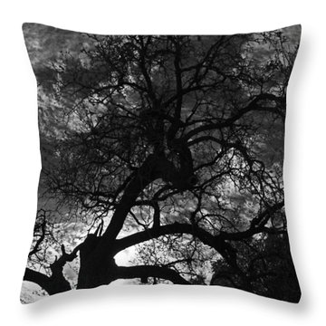 Spooky Tree Throw Pillow