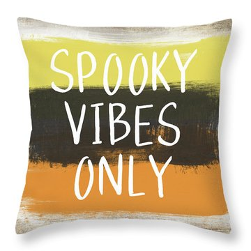 Spooky Vibes Only- Art By Linda Woods Throw Pillow