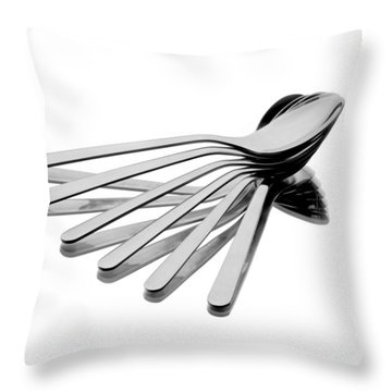 Spoon Fan Throw Pillow