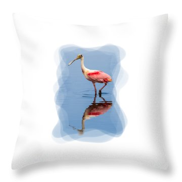 Spoonbill 3 Throw Pillow