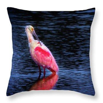 Spoonbill Sunset Throw Pillow