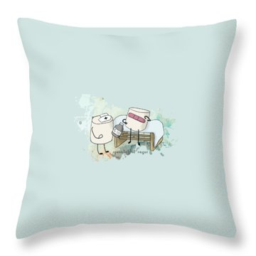 Throw Pillow featuring the digital art Spoonful Of Sugar Words Illustrated  by Heather Applegate