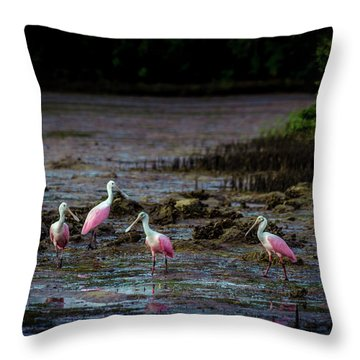 Spooning Party Throw Pillow