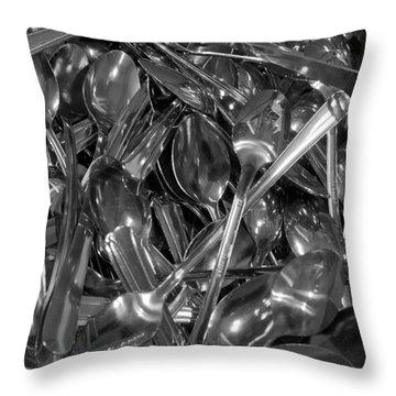 Spoons Throw Pillow by Henri Irizarri