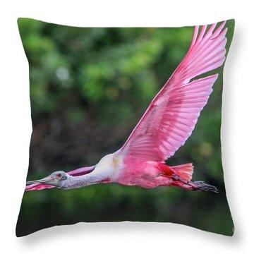 Spoony In Flight Throw Pillow
