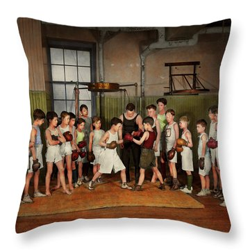 Throw Pillow featuring the photograph Sport - Boxing - Fists Of Fury 1924 by Mike Savad