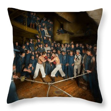 Sports - Boxing - The Second Round 1896 Throw Pillow