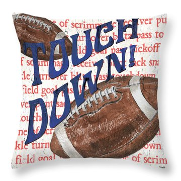 Sports Fan Football Throw Pillow