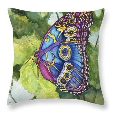Throw Pillow featuring the painting Spot by Sam Sidders