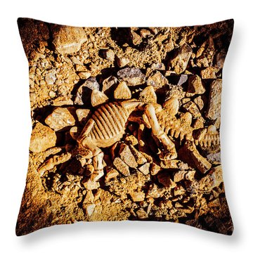 Spotlight On A Extinct Stegosaurus Throw Pillow