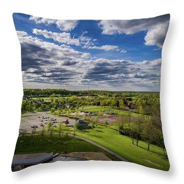 Spotlight On The Park Throw Pillow