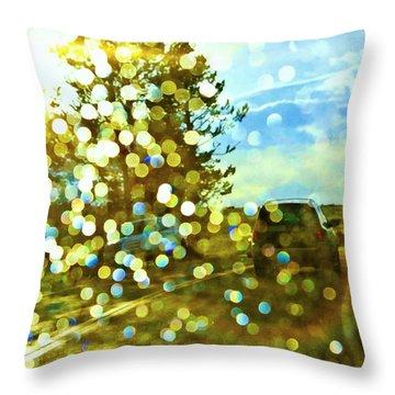 Spots Of Light Throw Pillow