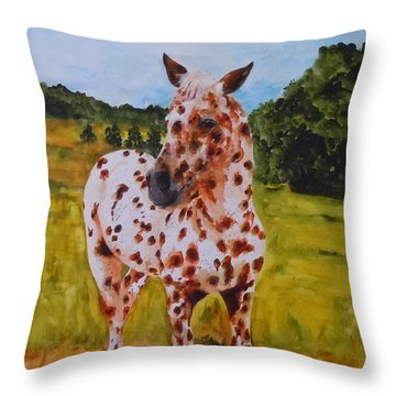 Spotted In Hawaii Throw Pillow by Jean Blackmer