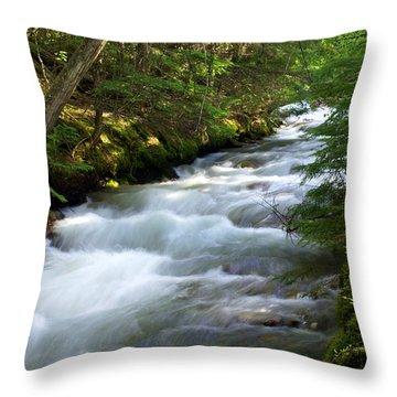 Sprague Creek Glacier National Park 2 Throw Pillow by Marty Koch