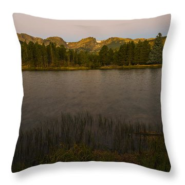 Sprague Lake Throw Pillow by Gary Lengyel