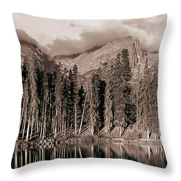 Sprague Lake Morning Throw Pillow