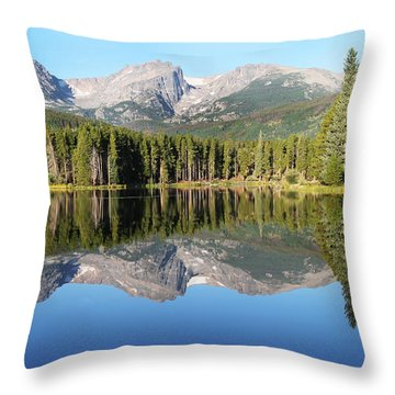 Sprague Lake Rocky Mountains Throw Pillow by David Yunker