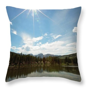 Sprague Lake Throw Pillow