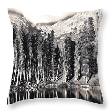 Sprague Lake Throw Pillow by Thomas Bomstad