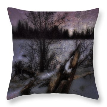 Throw Pillow featuring the photograph Sprague Lake Winter Dream by Ellen Heaverlo
