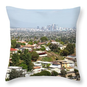 Sprawling Homes To Downtown Los Angeles Throw Pillow