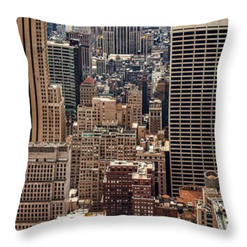 Sprawling Urban Jungle Throw Pillow