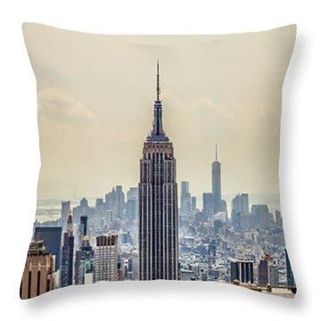 Sprawling Urban Jungle Throw Pillow