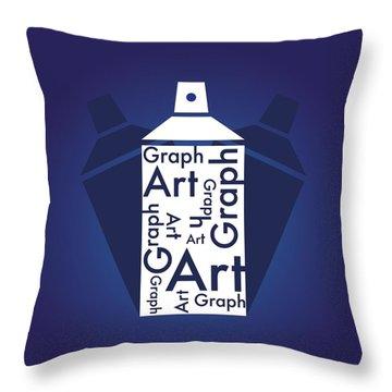 Graph Art Spray Can Throw Pillow by Sheila Mcdonald