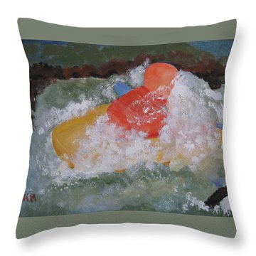 Throw Pillow featuring the painting Spray by Sandy McIntire
