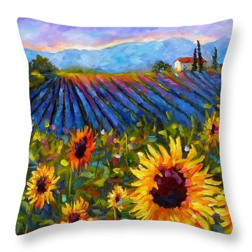 Throw Pillow featuring the painting Spread A Little Sunshine by Chris Brandley