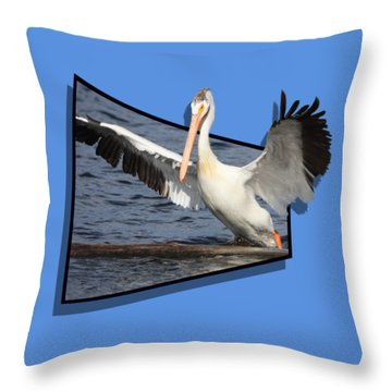Spread Your Wings Throw Pillow by Shane Bechler
