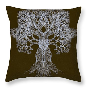 Spreading In Every Direction Tree 13 Hybrid 3 Throw Pillow