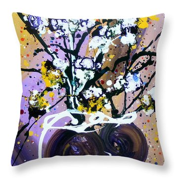 Spreading Joy Throw Pillow by Pearlie Taylor