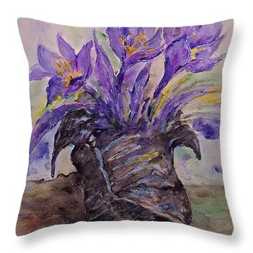 Spring In Van Gogh Shoes Throw Pillow