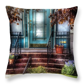 Spring - Door - Apartment Throw Pillow by Mike Savad