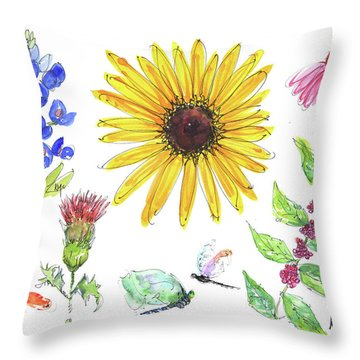 Spring 2017 Medley Watercolor Art By Kmcelwaine Throw Pillow