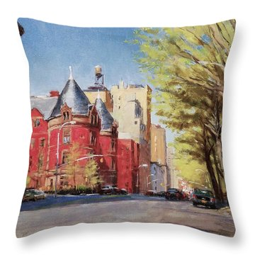 Spring Afternoon, Central Park West Throw Pillow by Peter Salwen
