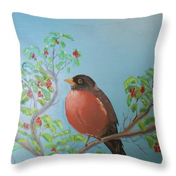 Spring Throw Pillow by Al Johannessen