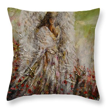 Spring Angel Throw Pillow